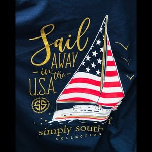 Large NWT Simply Southern Memorial Day T-shirt
